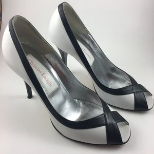 Christian Lacroix Womens size 6.5 Black and White